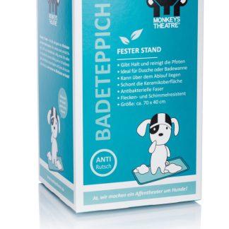 Badeteppich als Schutz für die Badewanne von Monkeys Theatre. Er sorgt für einen festen Stand des Hundes.
