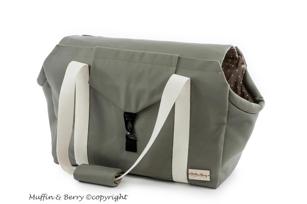 handgefertigte Hundetragetasche aus Baumwolle