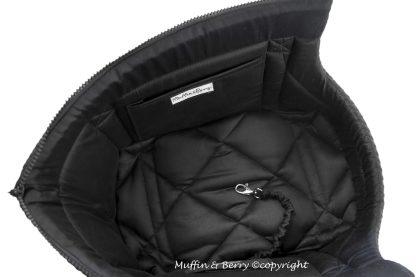Innenansicht schwarze Hundetragetasche