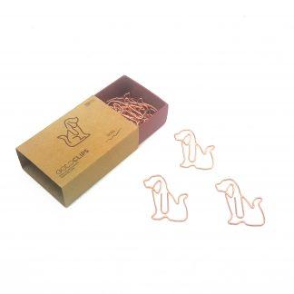 Büroklammer GOLDCLIPS als Hund geformt in rosegold
