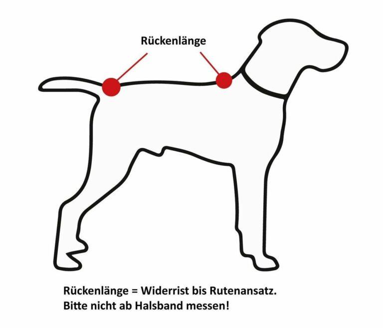 Messanleitung für Hundebademäntel