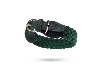 dunkelgrünes, geflochtenes Halsband von Malucchi